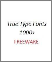 Free True Type Fonts 1000+