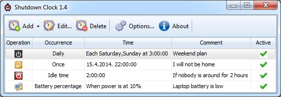 Free PC shutdown automation software.